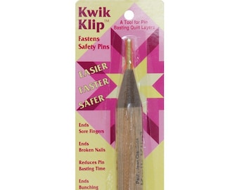 Kwik Klip - Safety Pin Fastener - Quick Quilt baste - Paula Jean Creations - Kid Friendly