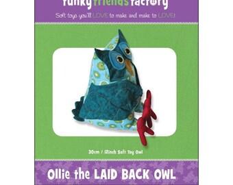Owl Stuffed Toy Pattern - Funky Friends Factory designed by Pauline - Ollie Owl 4330 - DIY Pattern