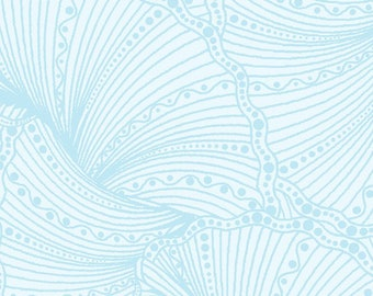 Horsen Fanfare - Scrolls - Horsen Around by Ann Lauer for Benartex - 6857-05 Light Blue - Priced by the Half Yard