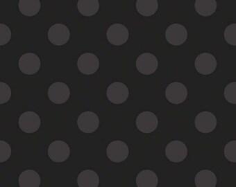 Polka Dot Fabric - Riley Blake  - Medium Dot Tone on Tone - Black c430 115 - Priced by the Half Yard