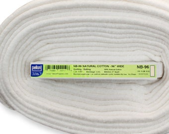 Cotton Batting - Pellon Natures Touch - 100% cotton no scrim NB 96 Natural - 96 inch wide