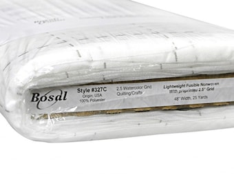 Quilter's Grid 2.5-inch Fusible Interfacing - Bosal 327C-WHT - 48-Inch Wide - Priced by the Yard