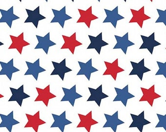 American Icon Fabric - patriotic star - Star Fabric -  Riley Blake Designs - red white Blue - Priced by the 1/2 yard
