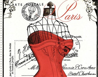 Couturière Parisienne by Janet Wecker Frisch - Paris Dressform - Riley Blake P8840 Dress Panel - Priced by the 24-Inch Panel
