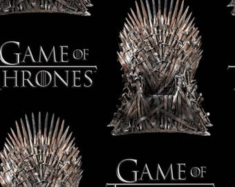 Game of Thrones Fabric, Iron Throne Fabric - Springs Creative SPR64271-1100715 Black - Priced by the 1/2 yard