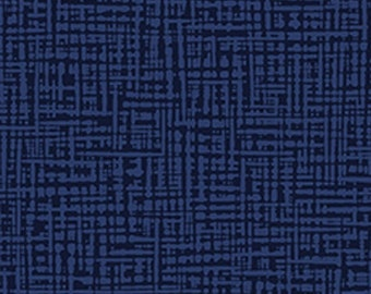 Textured Graphic Fabric - Straight Grain Collection - Patrick Lose Fabrics  - SG1001-021 Indigo - Priced by the Half yard