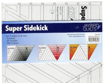 Super Sidekick Quilting ruler - Julie Herman Jaybird Quilts - JBQ 204 - Acrylic - Includes Cookie Cutter Pattern