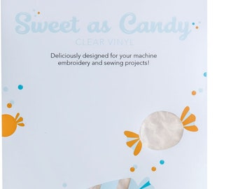 Sweet as Candy Vinyl - Kimberbell Crafts - Clear KIDKB1205 - 8 Sheets per Pack - 6x12 inch