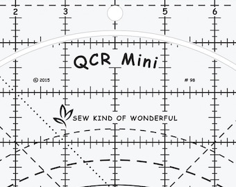 Mini Quick Curve Ruler - From Sew Kind of Wonderful By Jenny Pedigo - Acrylic