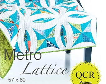 Metro Lattice using the Quick Curve Ruler by Sew Kind of Wonderful.  By Jenny Pedigo # SKW404