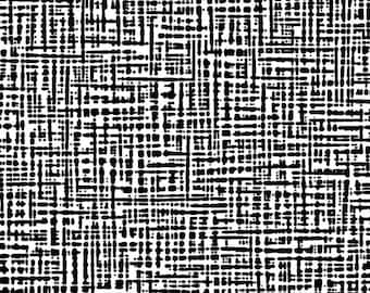 Textured Graphic Fabric - Straight Grain Collection - Patrick Lose Fabrics  - SG1001-013 - Black & White - Priced by the Half yard