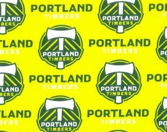 Soccer Team Fabric - Portland Timbers - MLS by Fabric Traditions 8731 Cotton - Priced by the 1/2 yard - 58-Inch wide