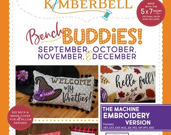 Kimberbell - Bench Buddies - September to December   KD576 - CD Machine Embroidery