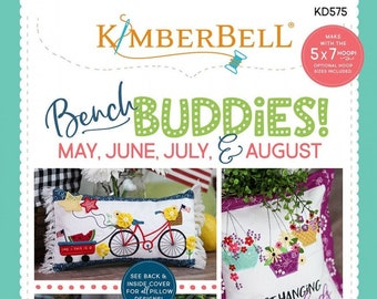 Kimberbell Designs  - Bench Buddies Patterns - Summer May to August   KD575 - MACHINE CD Version - DIY Project
