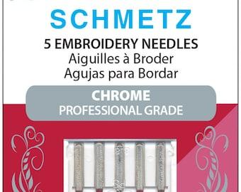 Schmetz Needles 75/11 Chrome Embroidery Needles - 5 pack - 4045 HECF