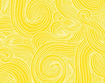 Just Color - Color Swirl - Color Tonal - Studio E - 1351 Sunshine Yellow - Priced by the half yard