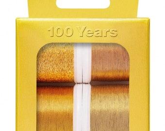 Madeira Gold Thread Collection - 100 Year Celebration - 6 spool  220yd /200M per spool No. 40 Metallic