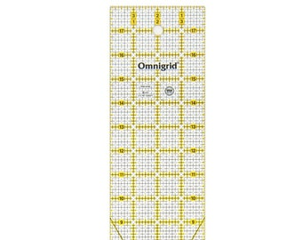 OmniGrid - Rectangle Ruler - OMNR418G - 4-Inch x 18-Inch - Acrylic Ruler - Made in the USA - Sold by the Each