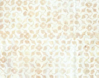 Floral Gem - Neutral Batik -  Coastal Chic - Maywood Studio MASB26 015 Cream - Priced by the half yard