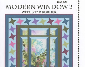 Quilt Pattern - Modern Window 2 Focus Feature by Quilt Woman - DIY Project - includes two size options