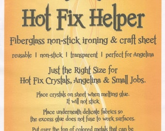 "Hot Fix Helper Applique Sheet - Non-Stick Craft Sheet - Ironing Sheet - Fiberglass Sheet - Bo Nash BO1006 9""x6"""