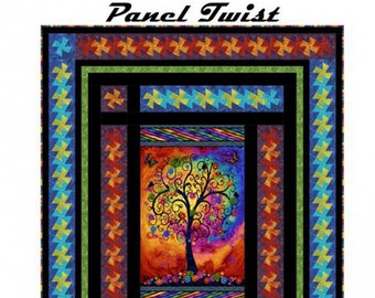 Panel Twist - Quilt Pattern - Pinwheel Quilt - Marilyn Foreman - Pattern Only, DIY Project - Wall Hanging or Throw size