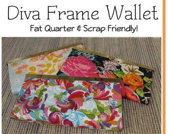 Diva Clutch Wallet Pattern by Sew Many Creations - SMC223 Wallet Pattern ONLY - DIY Project - Uses 8 Inch Frame or 7.5 inch frame
