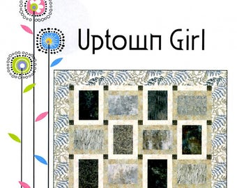 Focus Fabric Pattern, Block Quilt Pattern, Quilt Pattern - Uptown Girl by From Creative Sewlutions By Deanne Quill - Crib to King Size - DIY