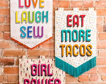 DIY Banner Pattern - Sew Your Own Banner with Sassafras Lane Designs - pattern only