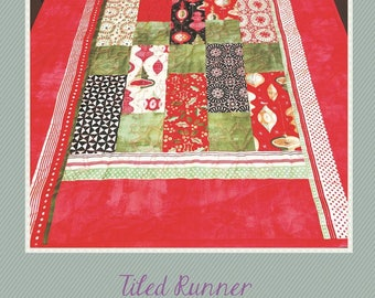Tile Table Runner, Bed Runner, Table Topper - From Bean Counter Quilts By Lorrie Franz NM-150 - DIY Project