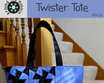 Twister Tote Bag - Around the Bobbin ATB-131 - Pattern Only - DIY Project
