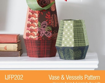 Vase & Vessels Fabriflair Pattern # IJFP202 - Vase Holder -  DIY Craft - Pattern Only