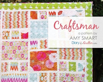 Craftsman Fat Quarter Quilt by Amy Smart - 2 sizes available - DIY Pattern - DQ 1601
