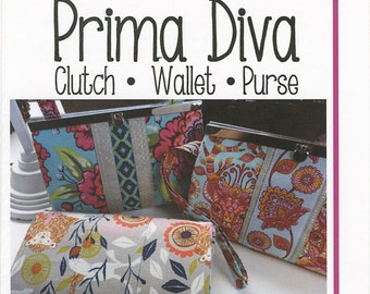 Prima Diva Clutch Wallet Pattern by Sew Many Creations - SMC824 Wallet Pattern ONLY - DIY Project - Uses 7.5 Inch Frame