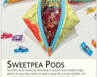 Pocket Holders, Zip Pouch, Sweetpea Pods by Lazy Girl Designs Joan Hawley - # LGD135 - DIY Pattern  & Fusible Fleece