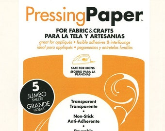 "Thermo-web Pressing Paper for Fabric and Crafts - #3403 - 5-Sheets per Pack - 11""x17"" sheets"
