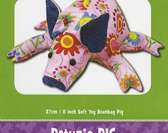 Pig Stuffed Toy Pattern - Funky Friends Factory designed by Pauline - Petunia Piglet 4422 - DIY Pattern