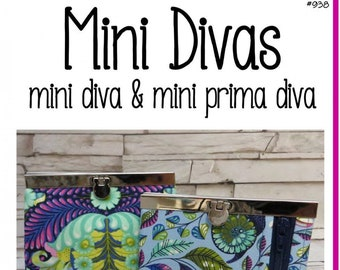 Mini Prima Diva & Mini Diva Wallet Pattern by Sew Many Creations - SMC824 Wallet Pattern ONLY - DIY Project - Uses 4.5 Inch Frame