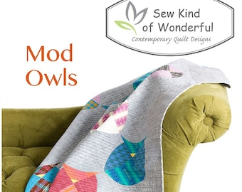 Mod Owl Quilt Pattern featuring Quick Curve Rulers - Sew Kind of Wonderful By Jenny Pedigo # SKW 417 - Pattern Only