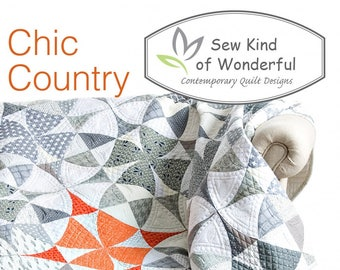 Chic Country Quilt Pattern featuring Quick Curve Ruler - Sew Kind of Wonderful By Jenny Pedigo # SKW411 - Pattern Only