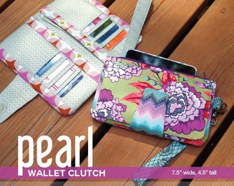 Pearl Wallet Clutch - Phone Credit Card Wallet -  Swoon Sewing Patterns SWN010 - DIY Project