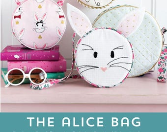 Bag Pattern - Alice Bag, Circle Bag, Novelty Purse by Melissa Mortenson PDC5430- Make it Yourself Pattern & Template (DIY)