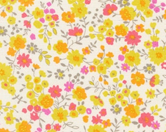 Summer Floral - Sevenberry Petite Sunshine Floral - Kaufman - 6118 D1 2 Yellow - Priced by the 1/2 yard