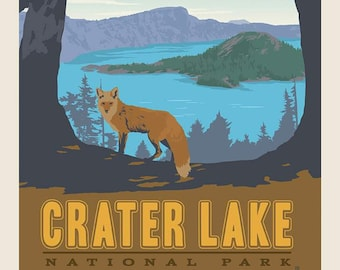 Crater Lake National Parks Fabric Poster - Anderson Design Group for Riley Blake C9481 - 36-Inch Panel