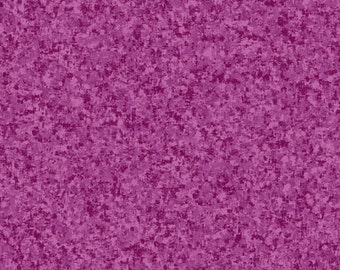 Dark Orchid Solid Textured Fabric - Quilting Treasures QT Basics Color Blender - 23528 VP - Priced by the 1/2 yard
