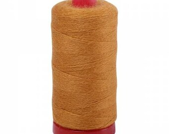 Aurifil 12wt Wool Thread - Wool Lana Acrylic/Wool Embroidery & Quilting Thread 12 wt - 50% wool - Golden Yellow 8142