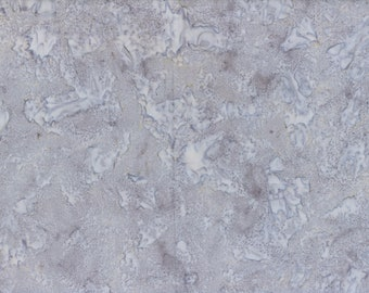 Solid Batik Fabric - Wilmington Rock Candy Batik - Washed Solid -  2678 990 Medium Gray - Priced by the half yard