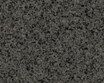 Charcoal Gray Solid Textured Fabric - Quilting Treasures QT Basics Color Blender - 23528 KJ - Priced by the 1/2 yard
