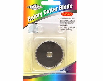 Rotary Cutter Blade  - Wide Skip Blade - 1/4-inch tooth - Havel C32001 WTS - 45mm