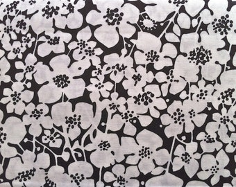 Black and White Floral Fabric - 13 Going 30 by Maywood Studio MAS8043 J - Priced by the half yard